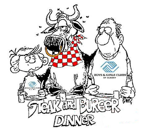 Steak and burger logo