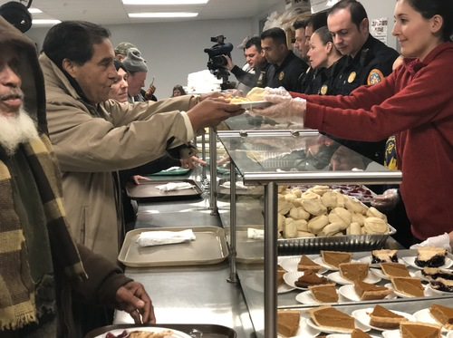 Thanksgiving with police 1