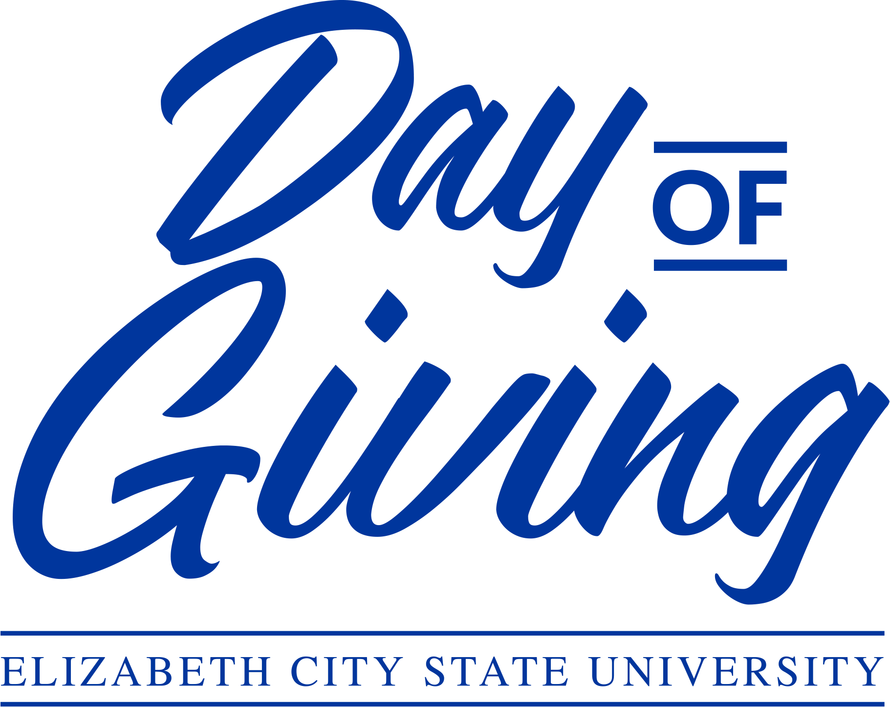 Day of giving logo ecsu all blue