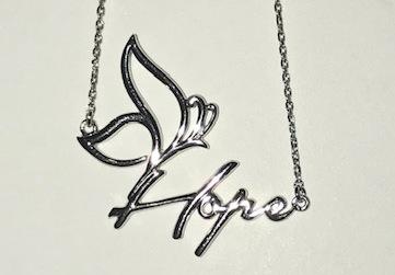 Hope necklace white
