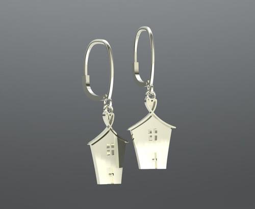 Sterling silver drop earringscentered