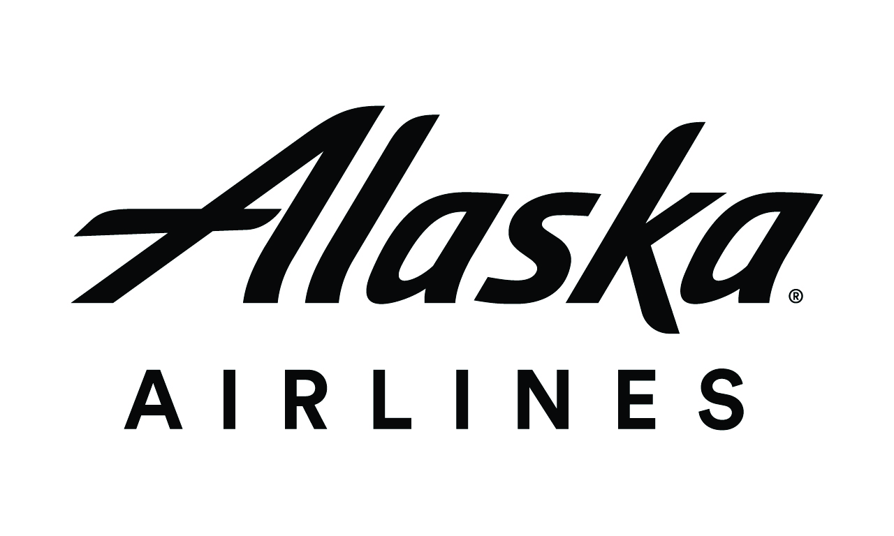Alaskaairlines wordmark official bw logo