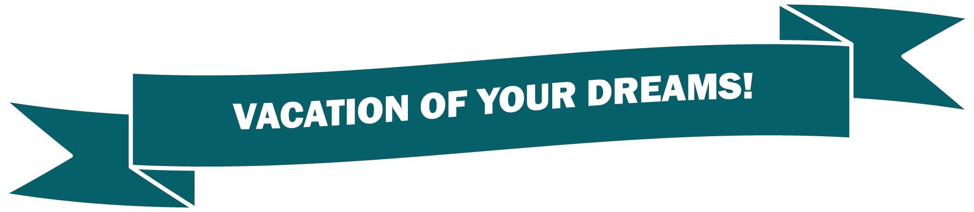 Raffle flyer vacation banner