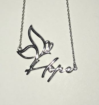 Hope necklace white