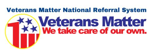 Veterans matter national referral system long logo