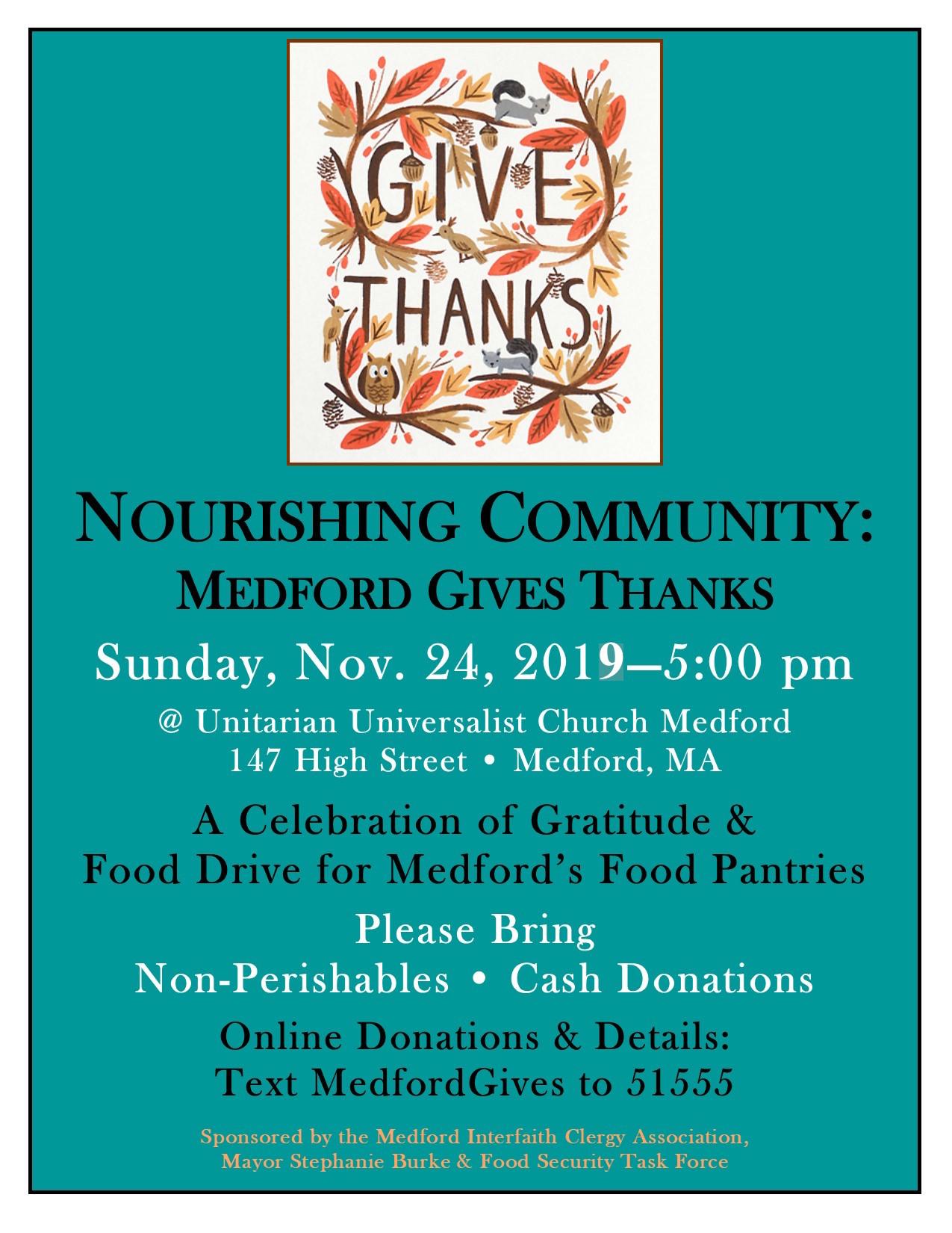 2019.11.24 medford gives thanks poster