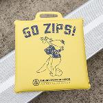 Vinyl throw back zippy seat cushion