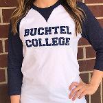 Buchtel college baseball tee