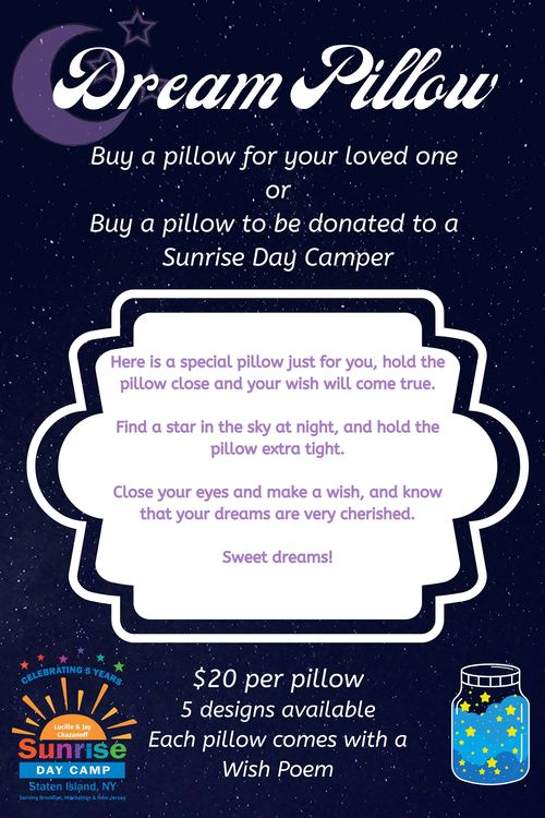 Sunshine dream pillow