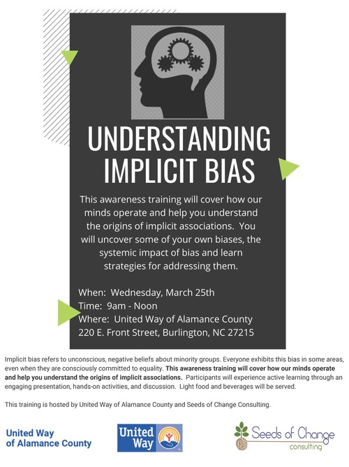 Implicit bias training flyer and description united way updated