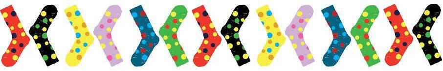 Choromosome polka dot sock divider