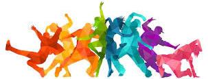 Silhouette rainbow dance