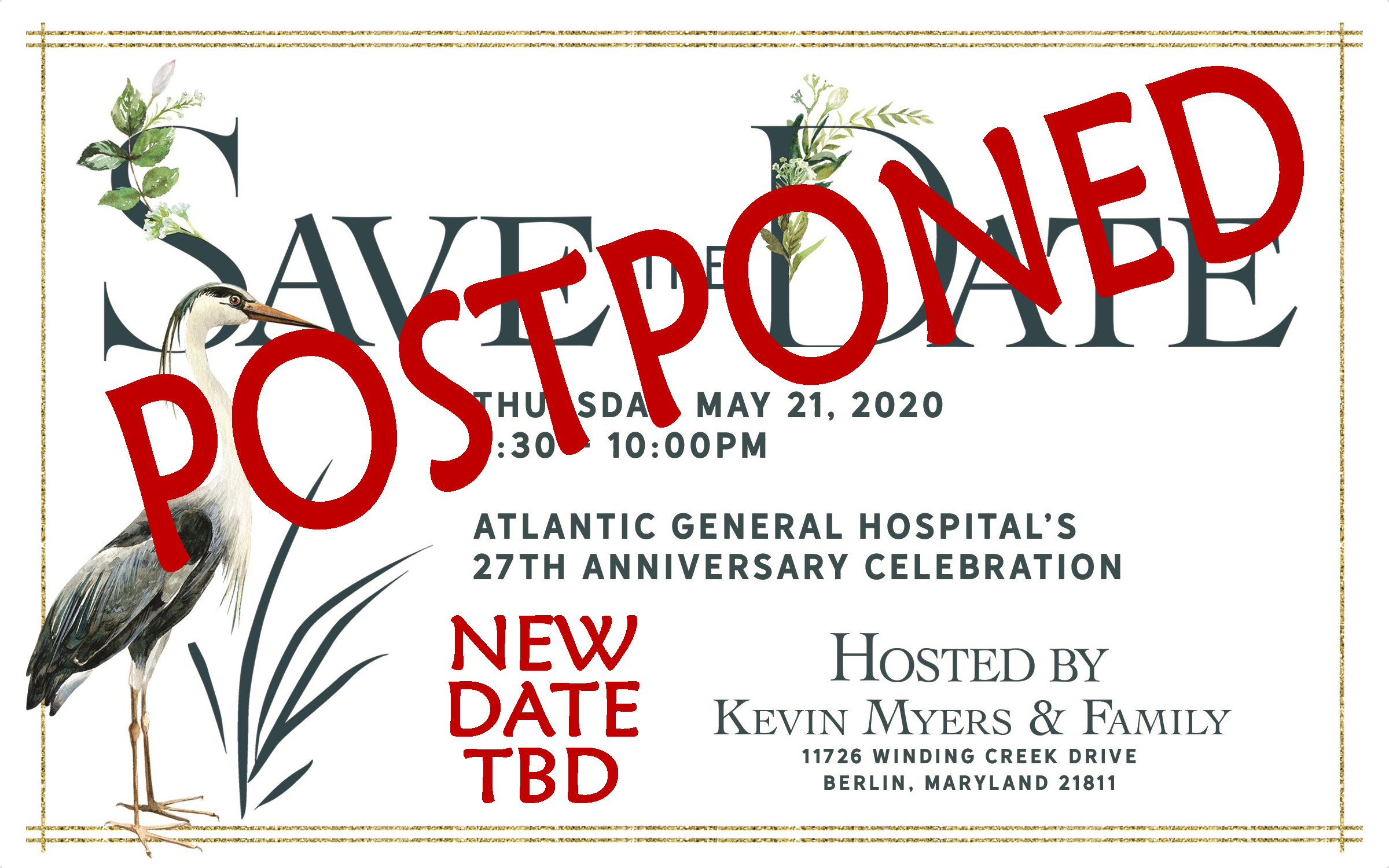 Save the date 27 postponed