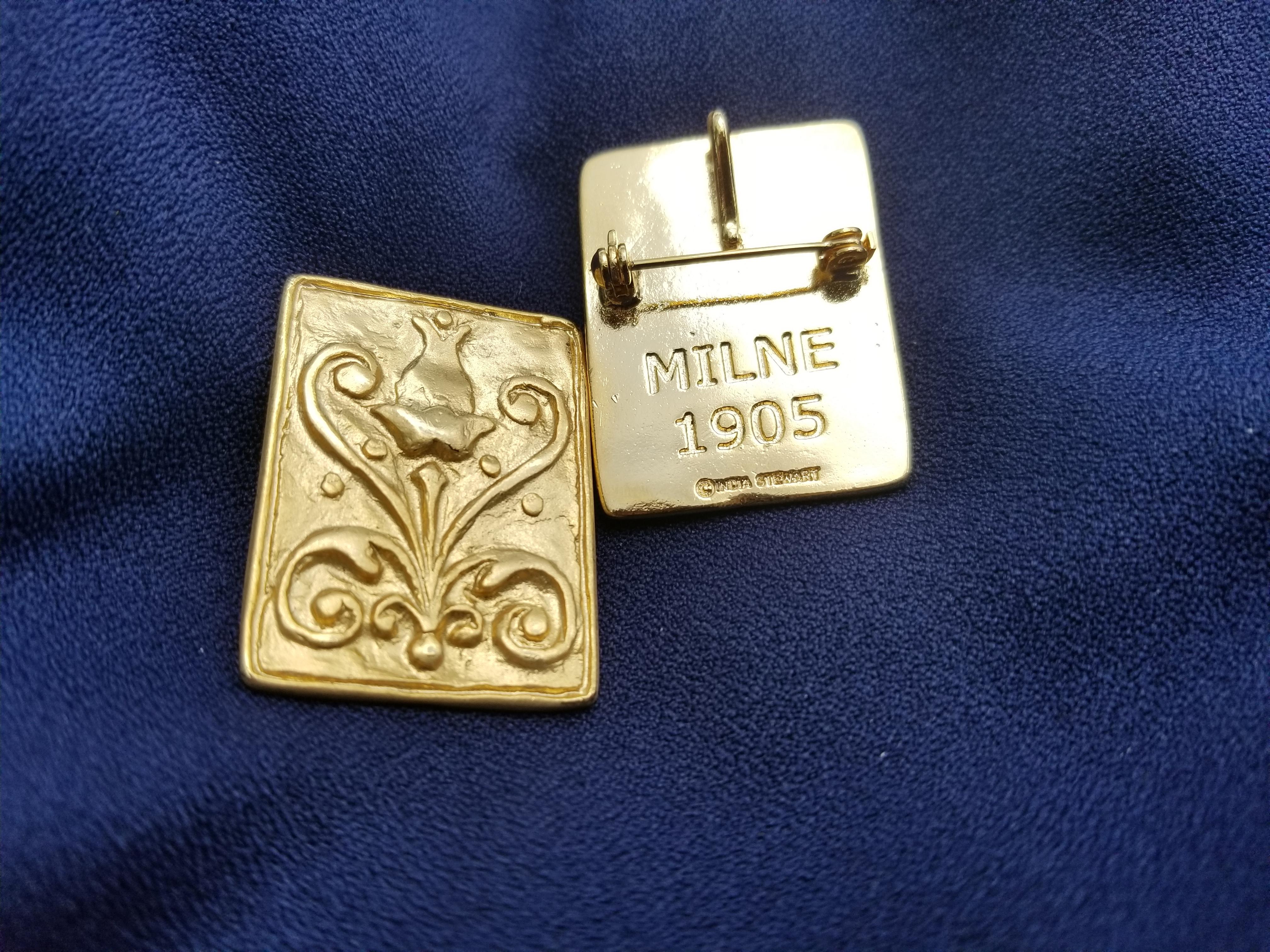 Gold milne pin
