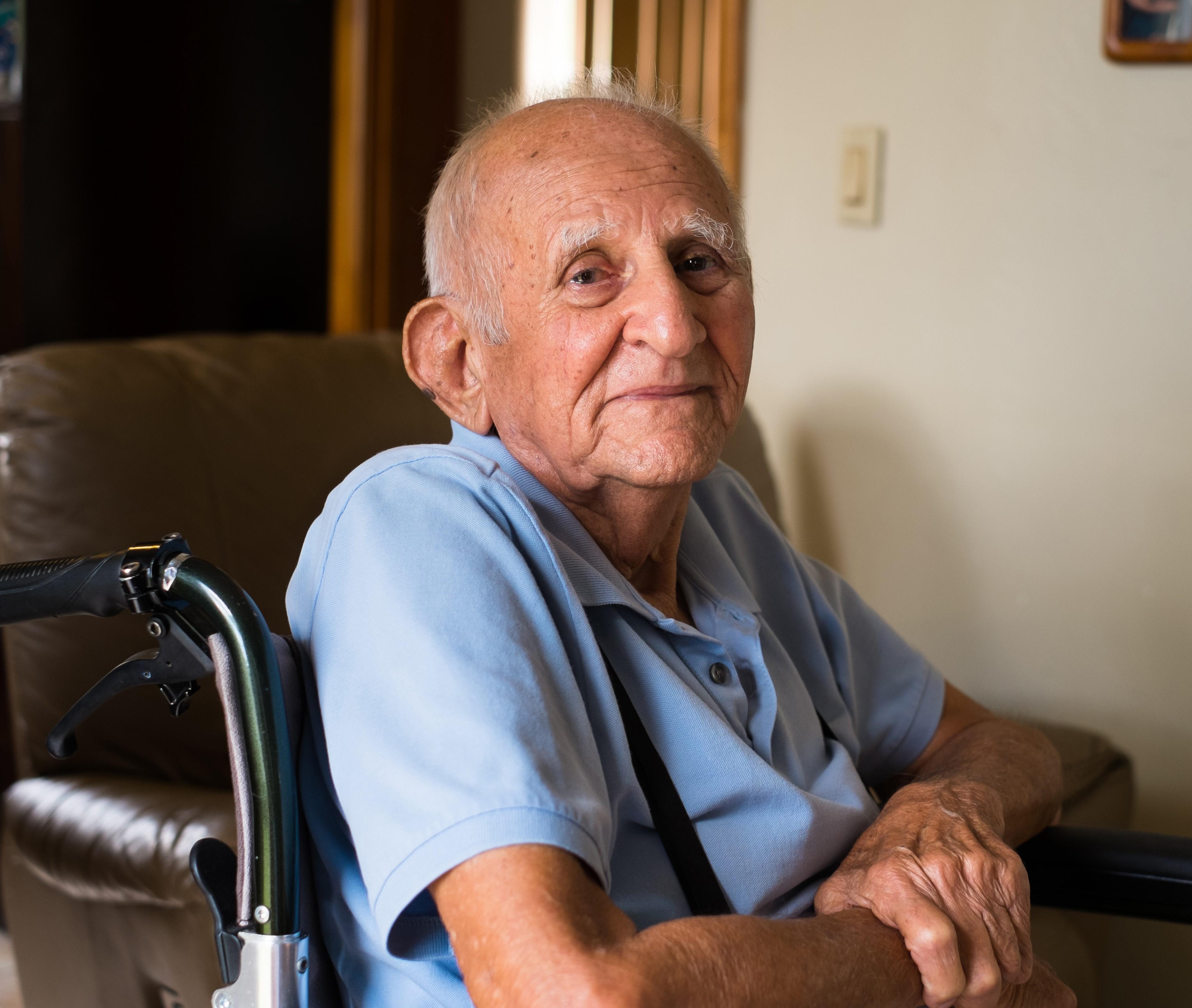 Older man siting