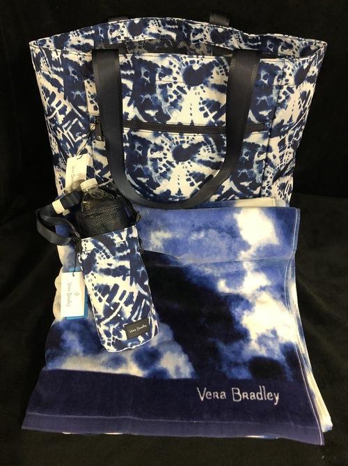 Vera bradley tote   towel basket