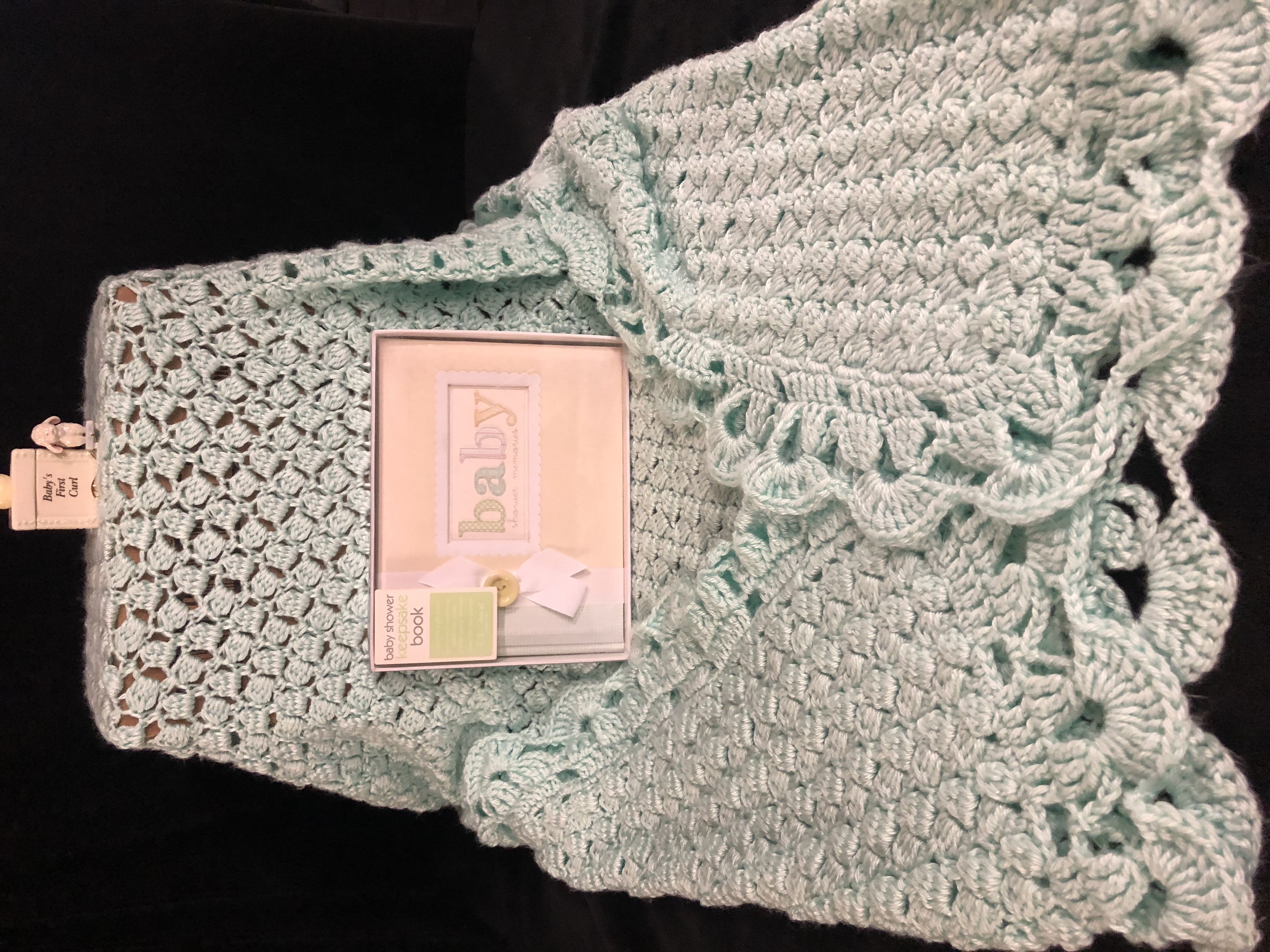 Mint baby blanket basket