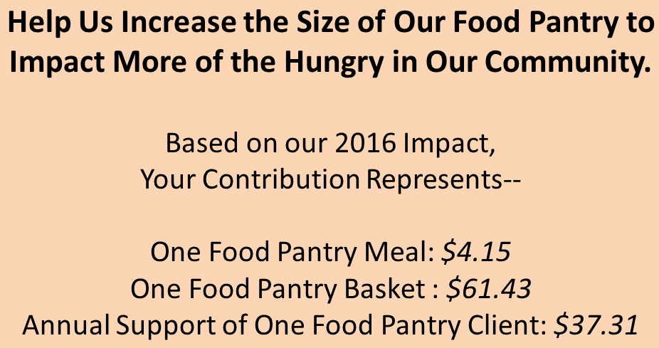 Food pantry equivalency