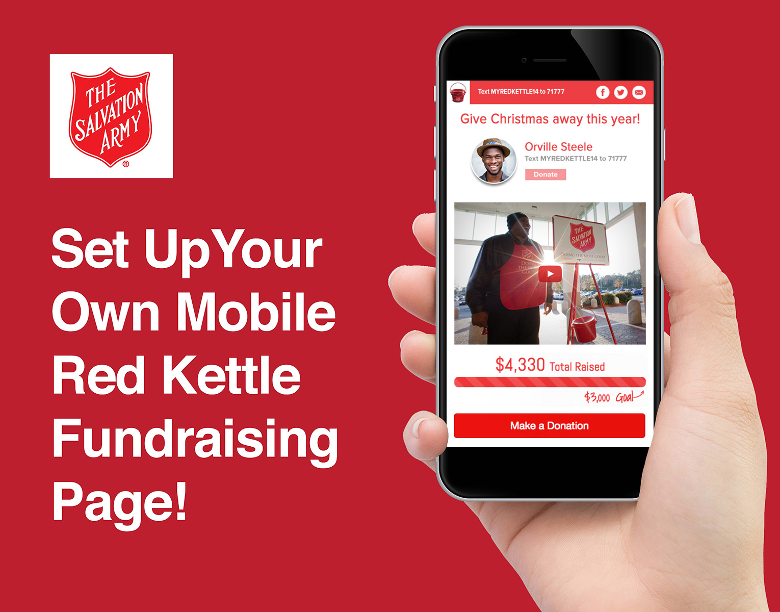 Fundraising signup salvationarmy