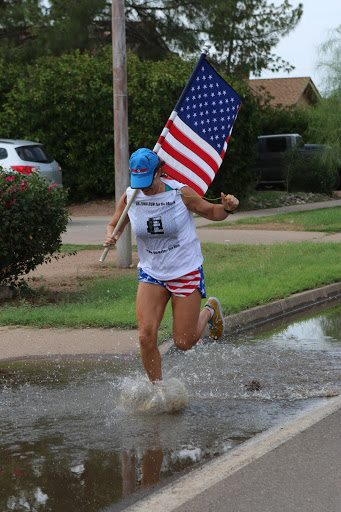 Flag puddle