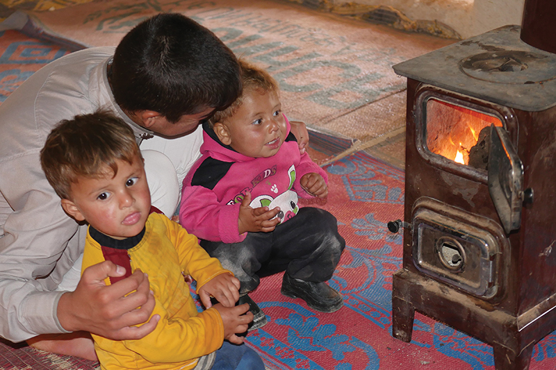 Kids at the fire 2017 winterization