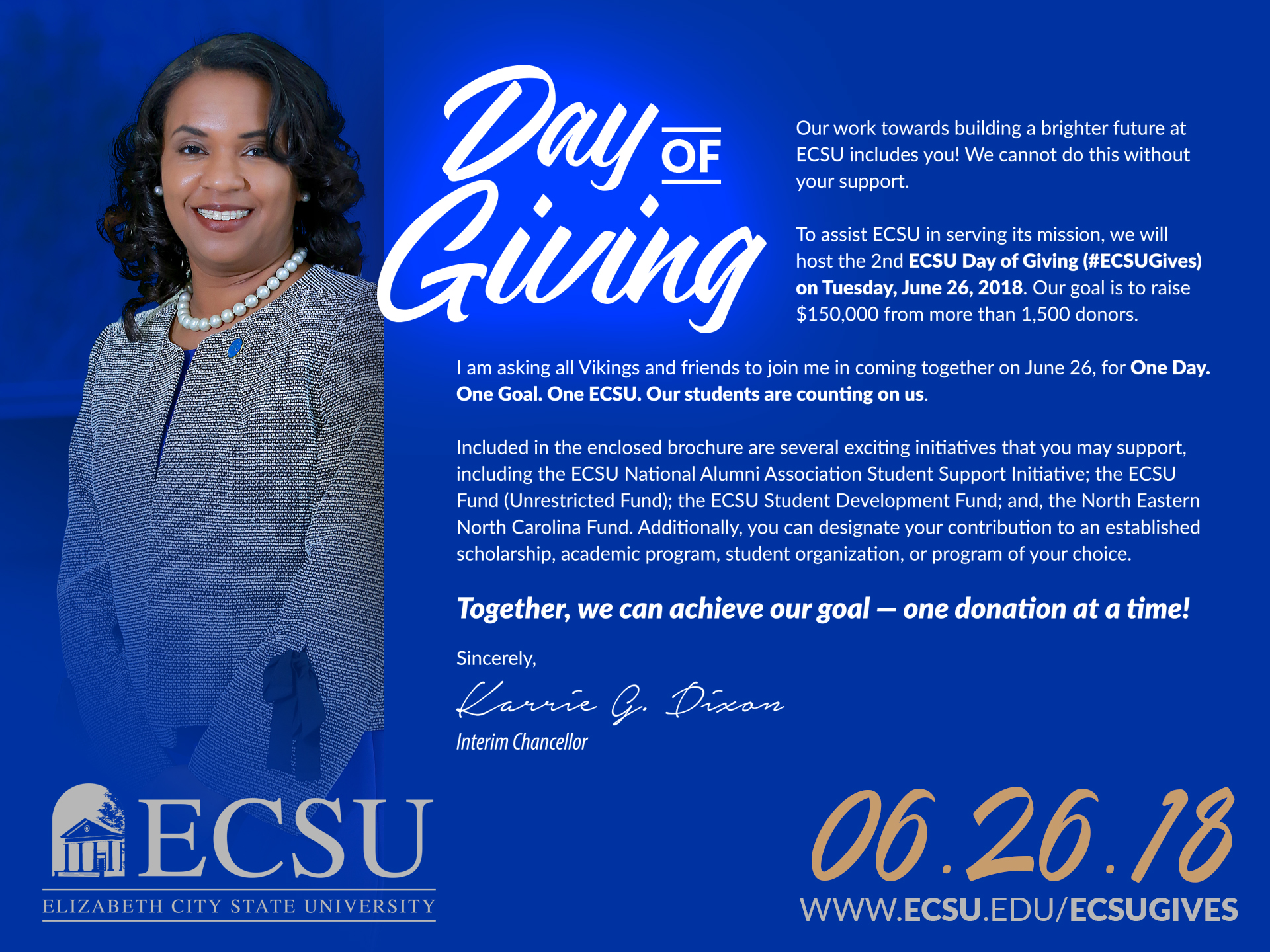 Ecsu day of giving chancellor message5