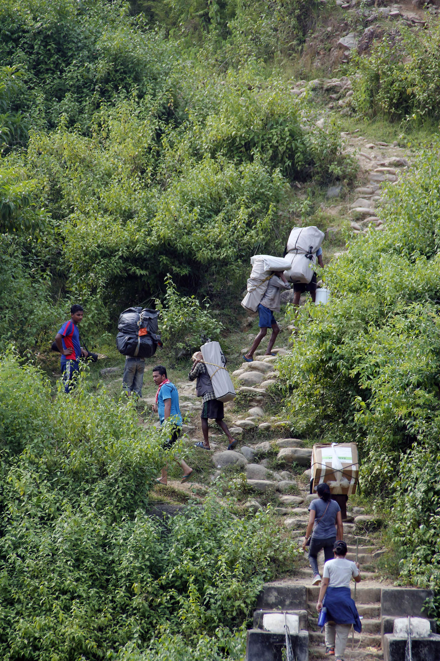 Carrying supplies nepal
