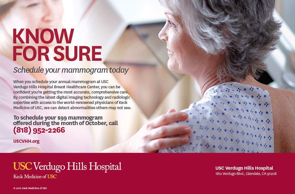 99 mammogram ad