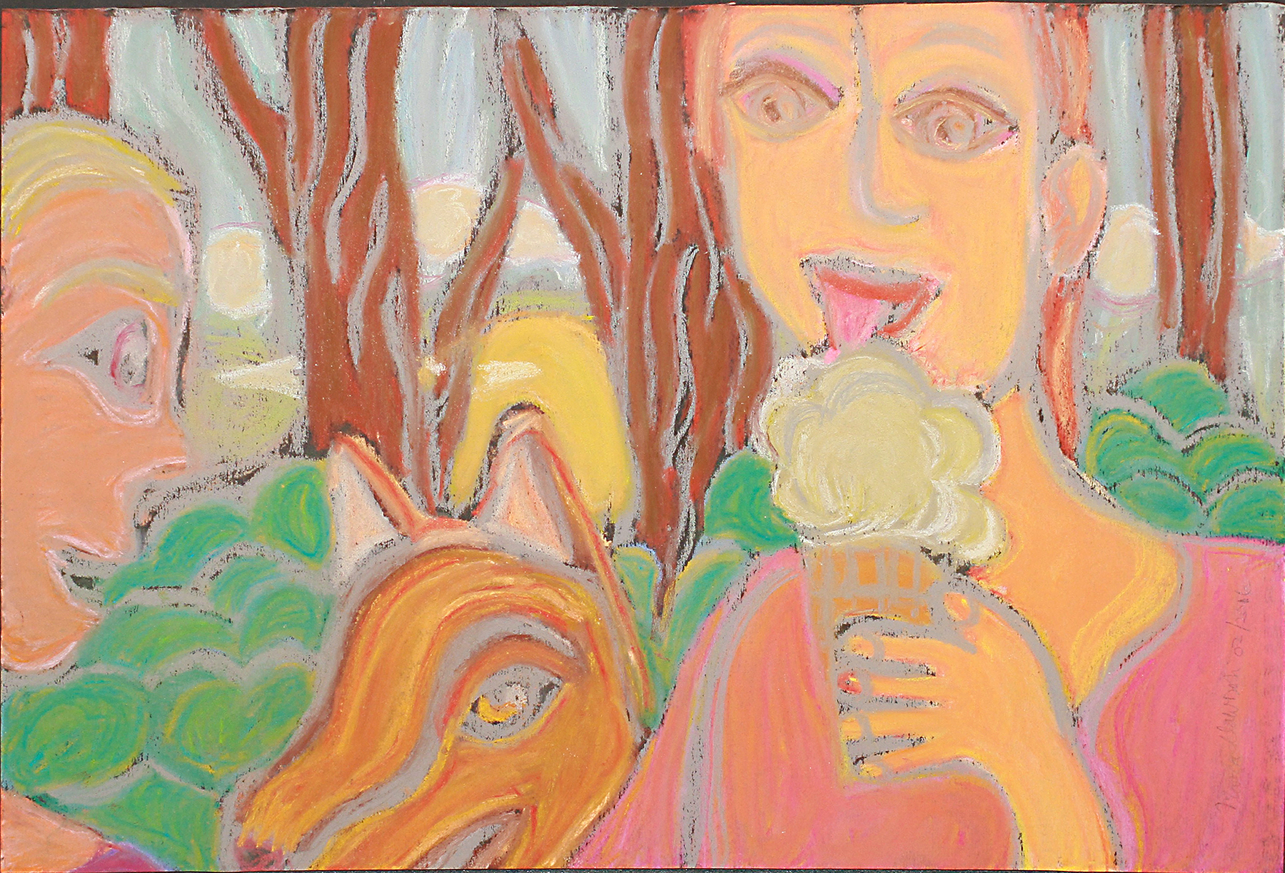Mara clawson enjoying some ice cream allouche postcard file copyright 2016 2