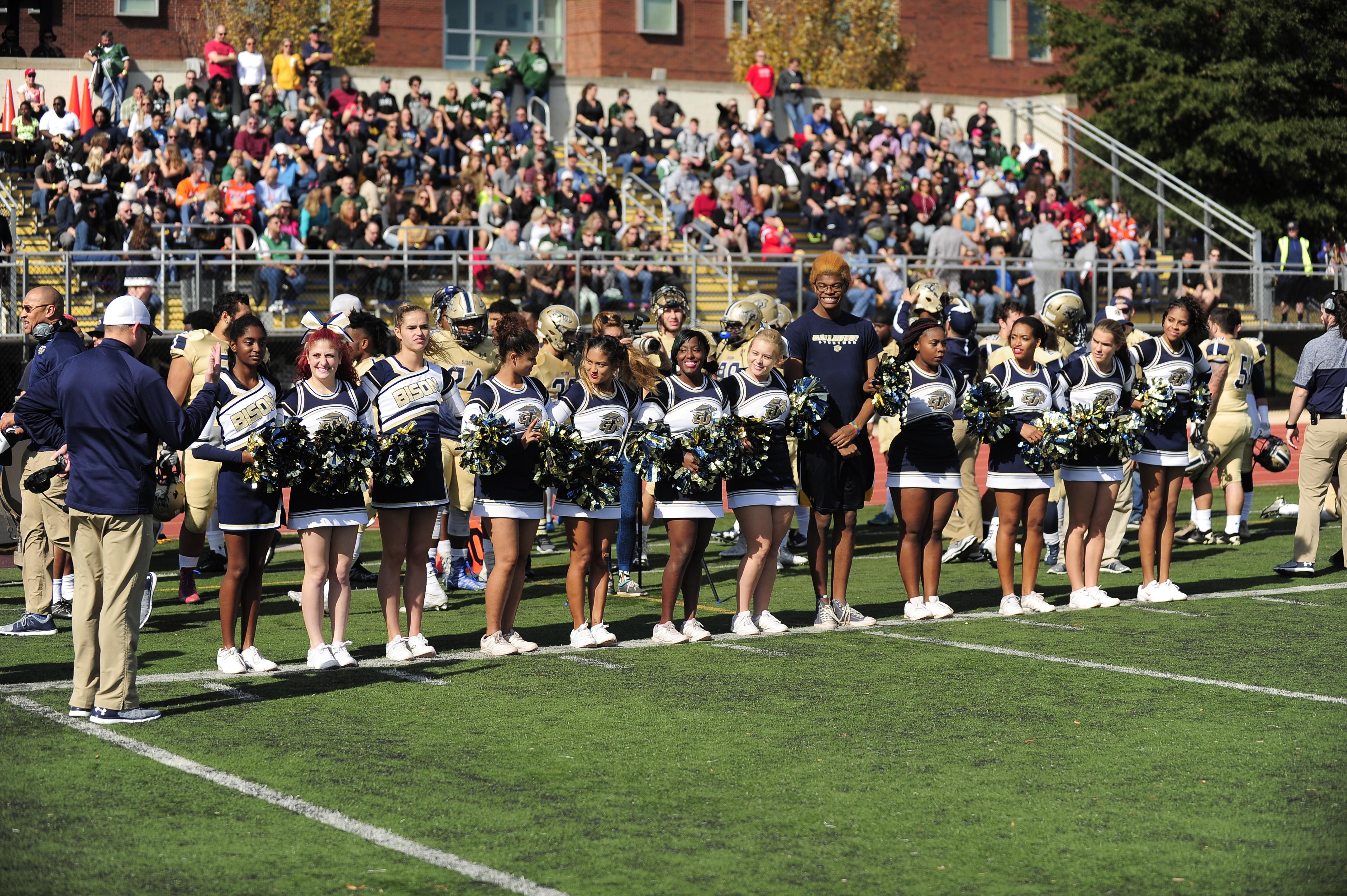 Cheer team pregame