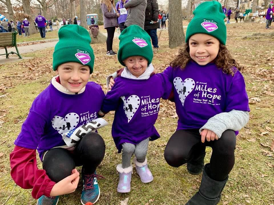 Zoey and friends turkey trot 2018