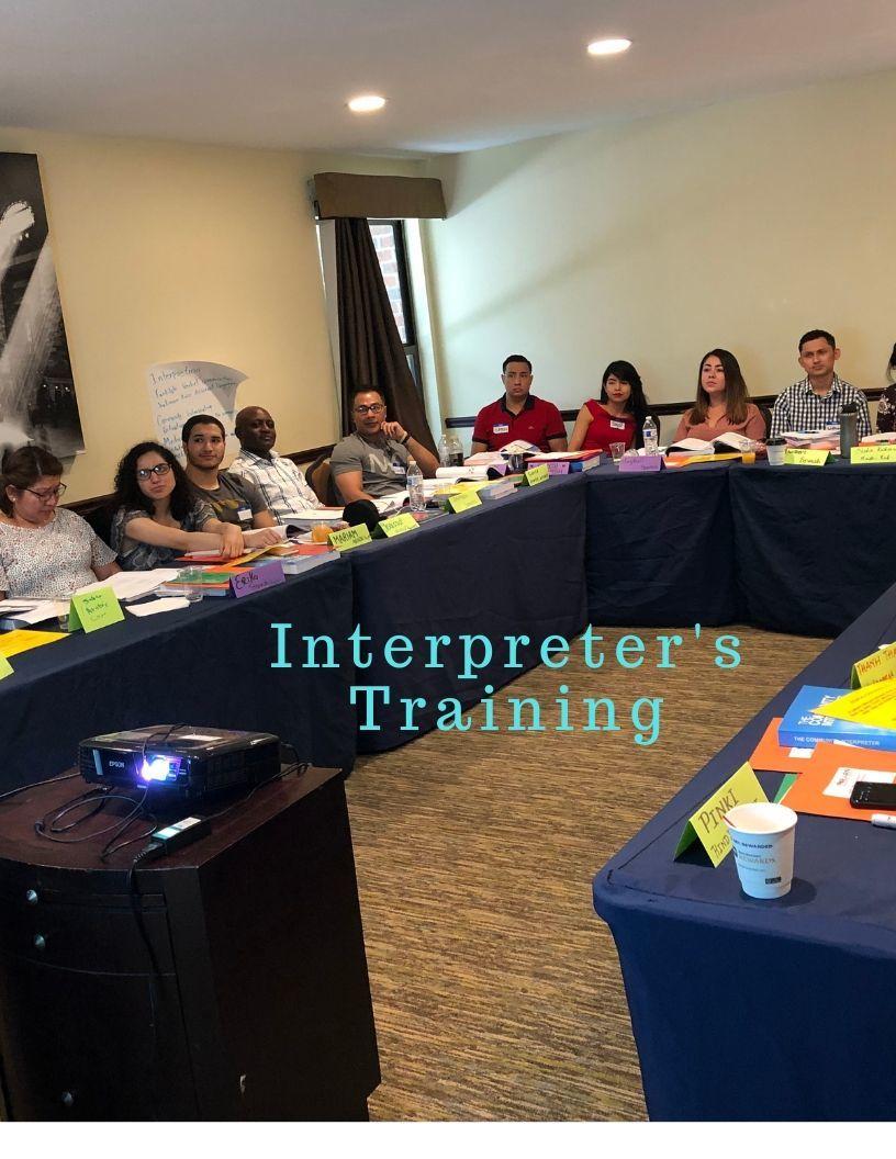 Interpreter's trainig