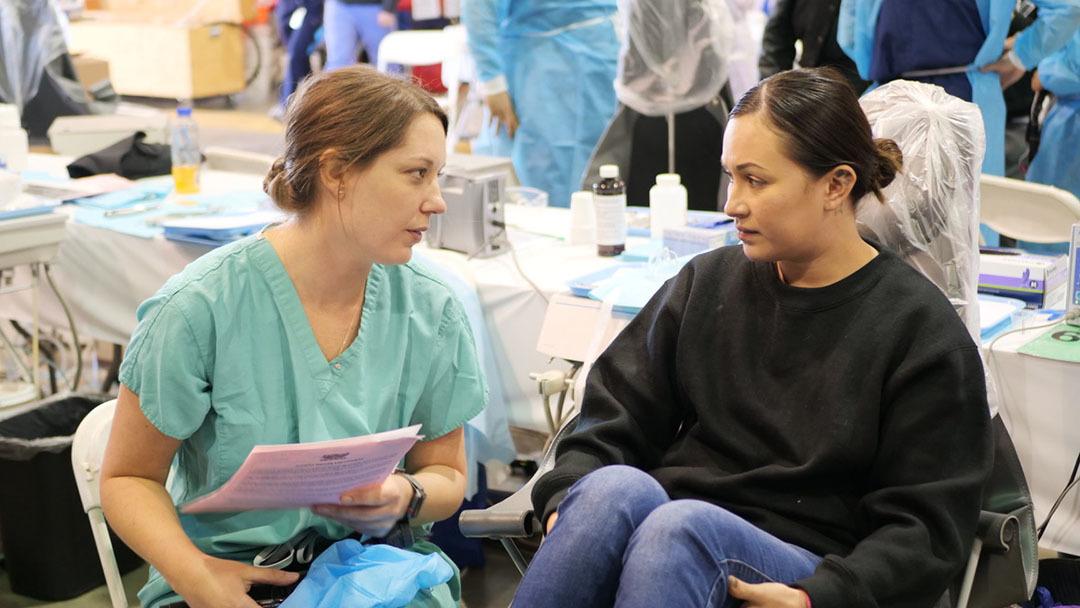 Dental   baldwin with patient