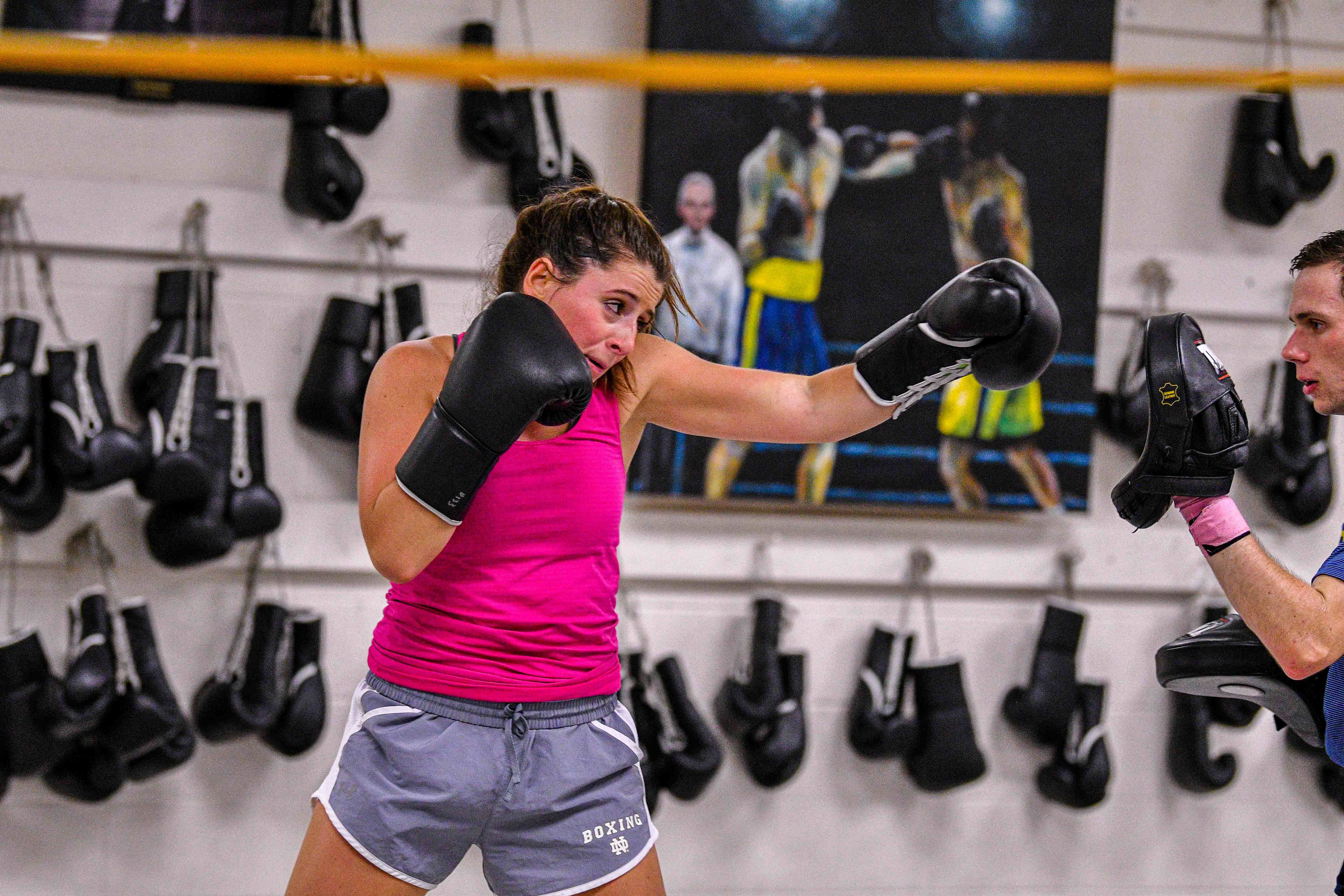Captain alexis driscoll perfecting her jab