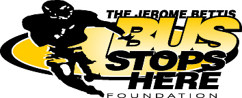 The Jerome Bettis Bus Stops Here Foundation Logo