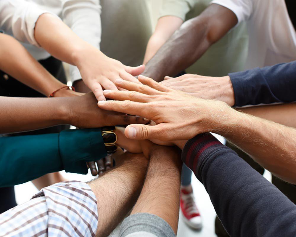 Donation hands