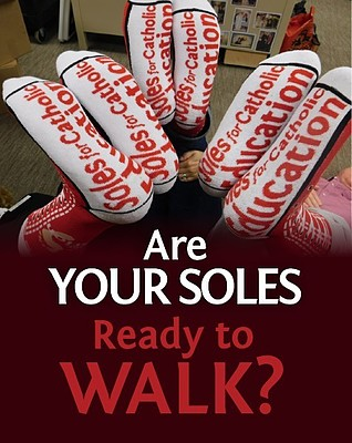 Soles for Catholic Education Walk AOM Logo