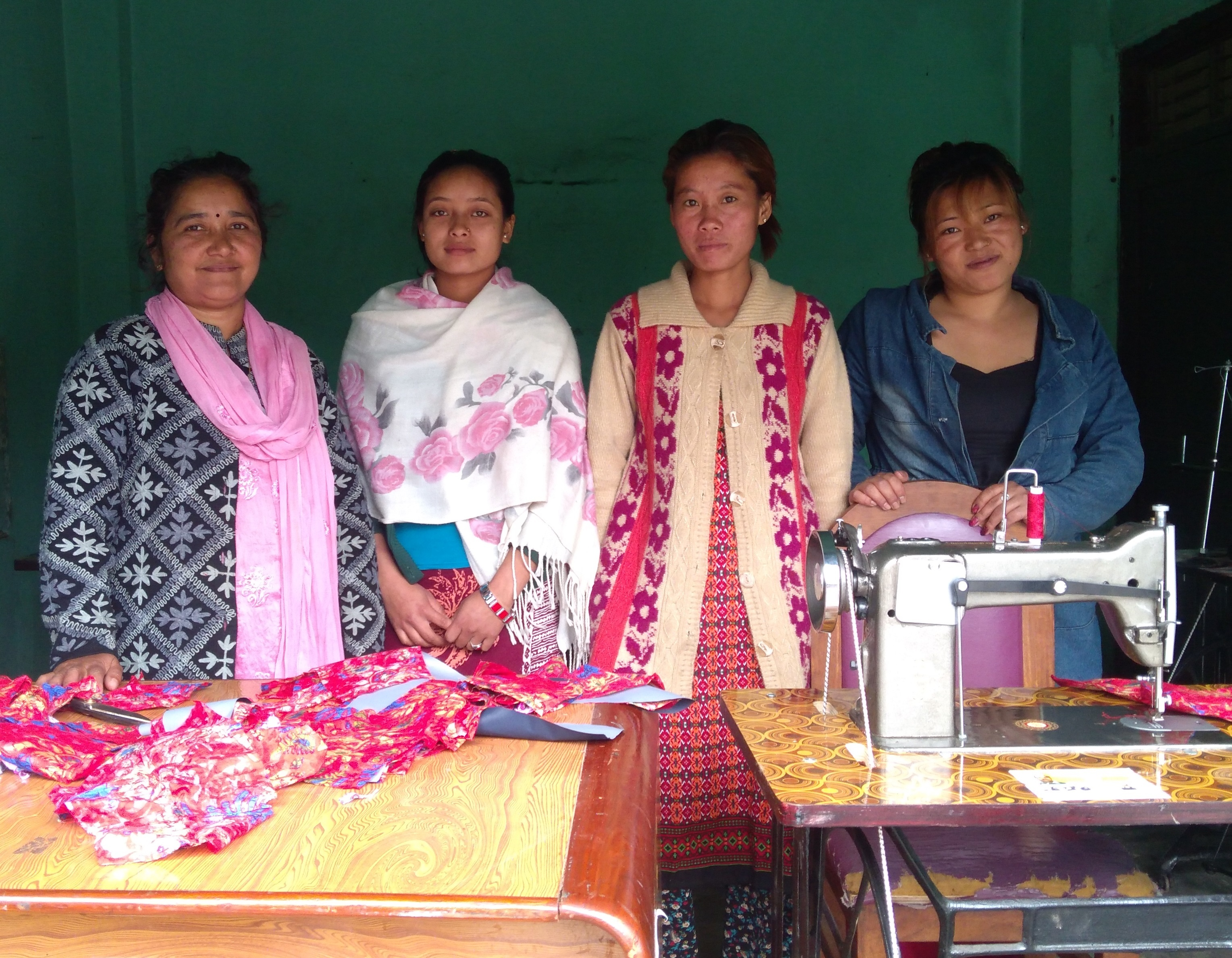 Ladies at nepal gep sewing center