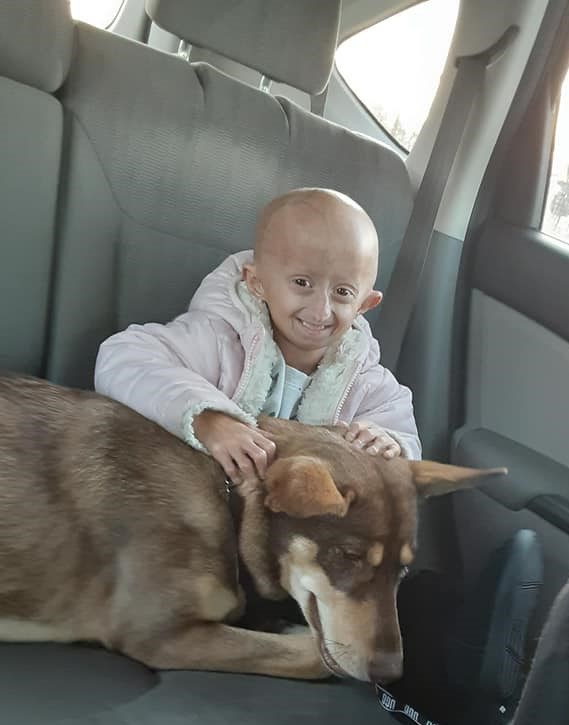 Zoey in car with dog dec 2019 %282%29