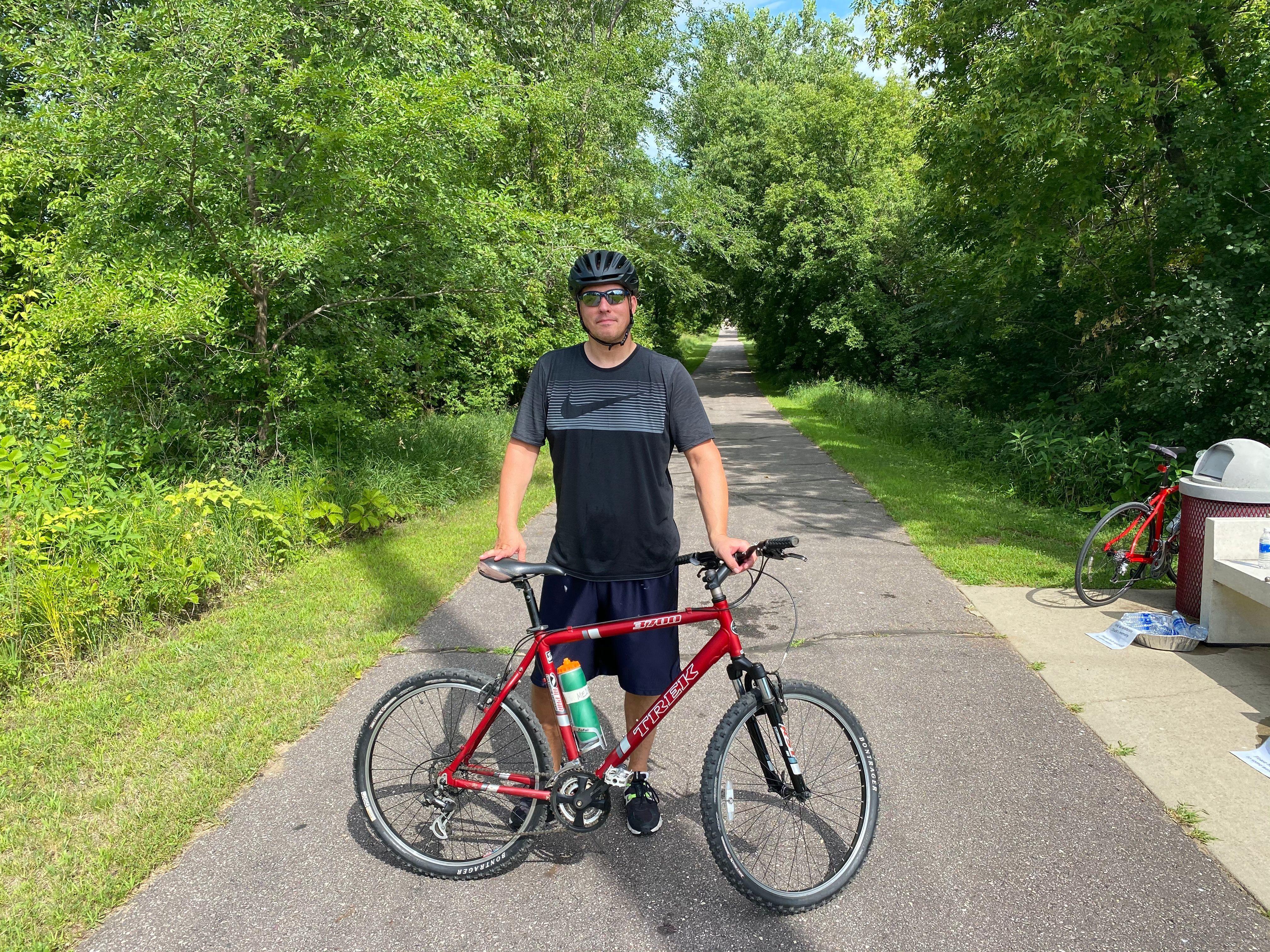 Biking for a cause   b the light
