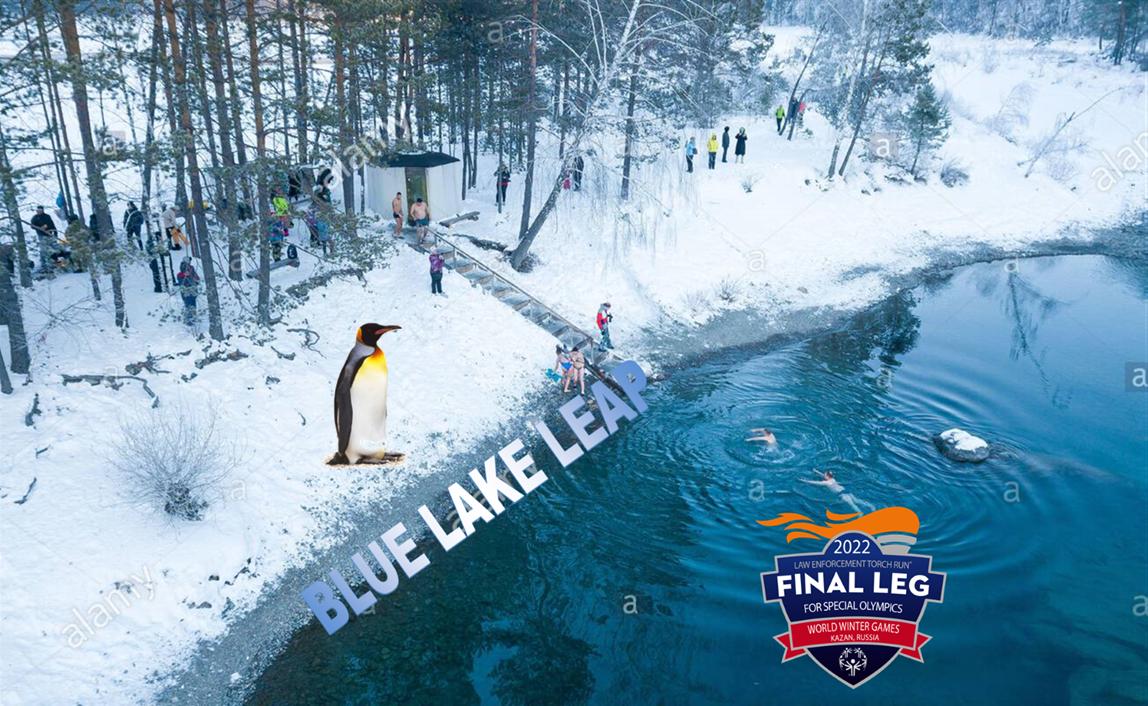 Blue lake leap