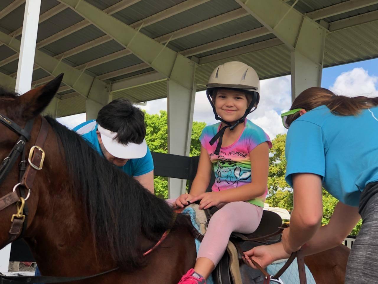 Mia on horse