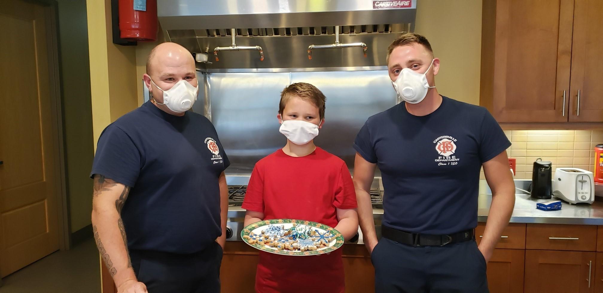 Fire station firemen with wyatt
