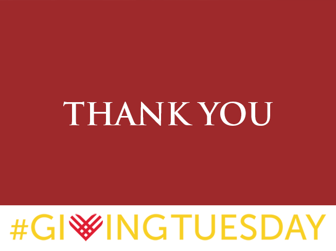 Giving tuesday 12.2 thank you
