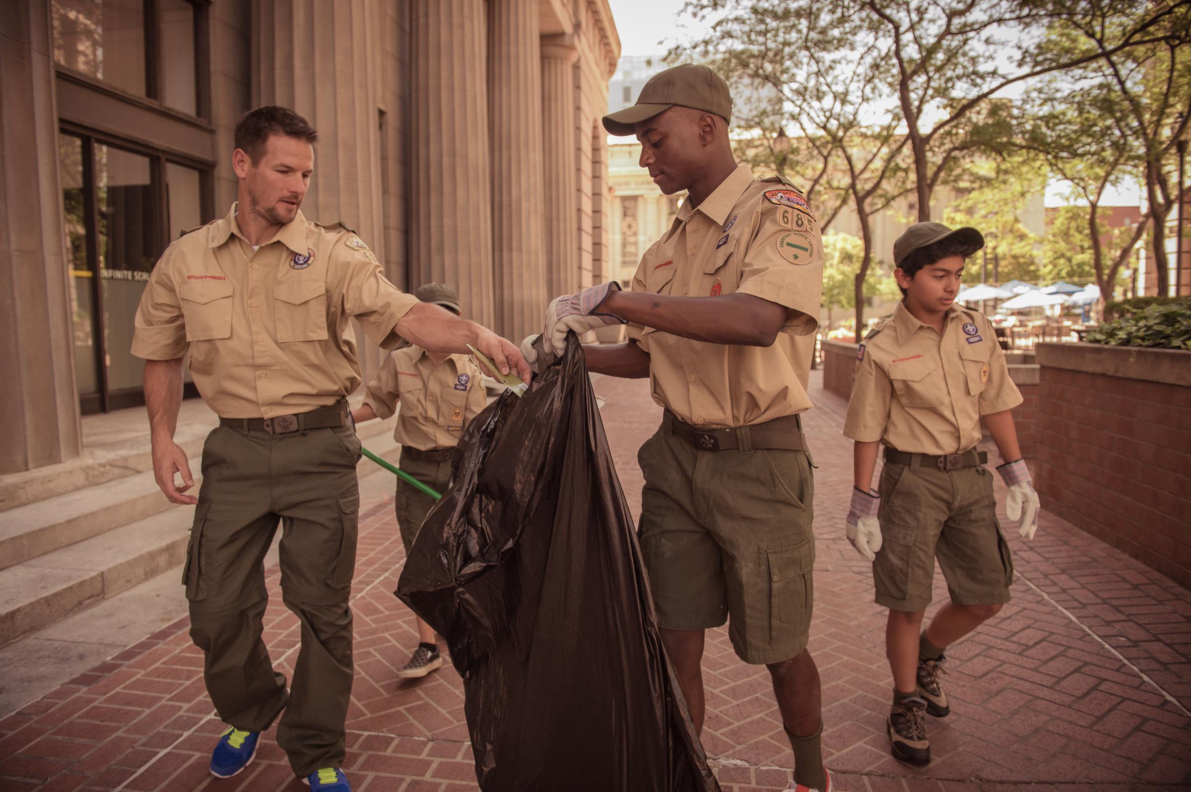 Samoset scouts bsa community service