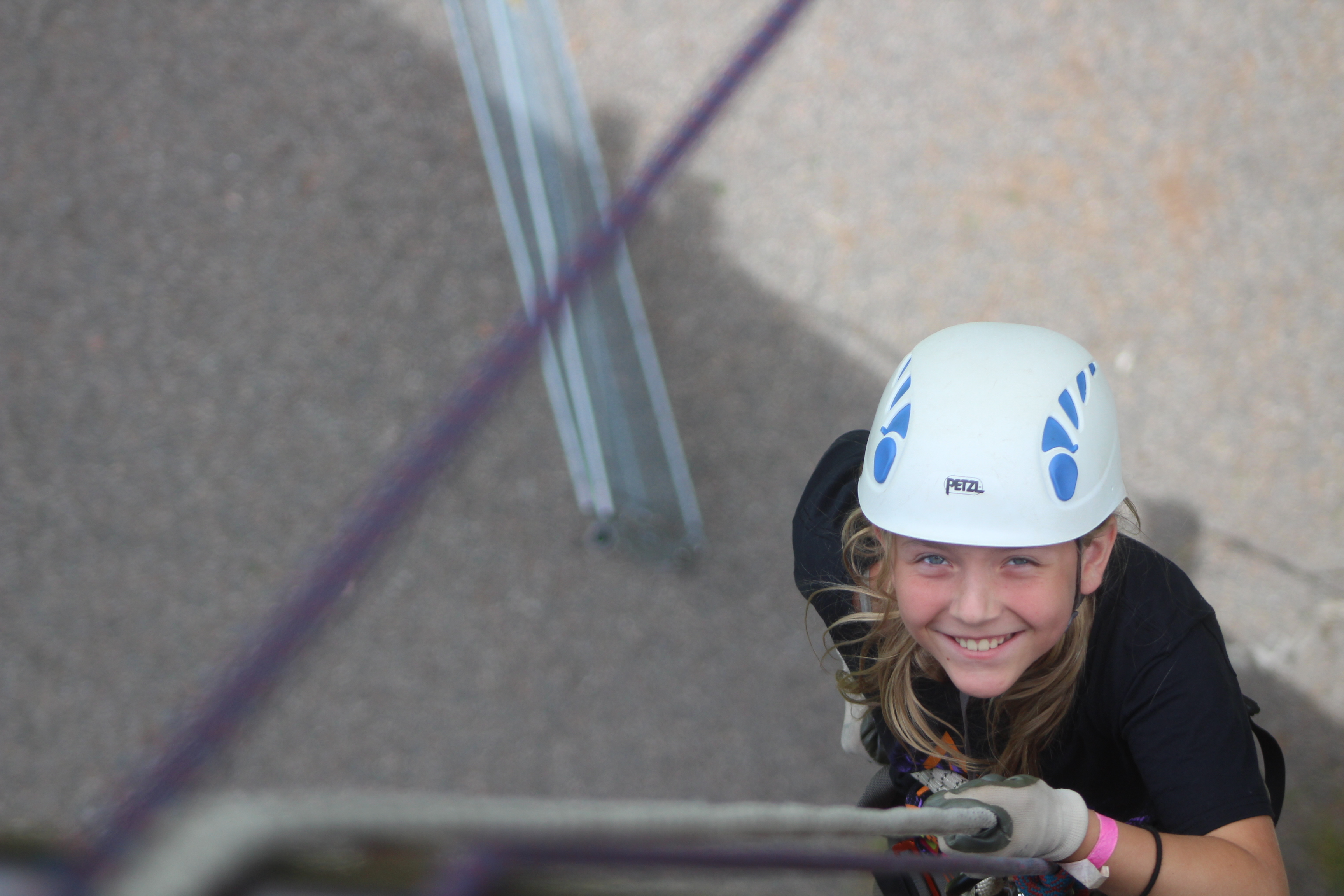 Samoset girl climbing