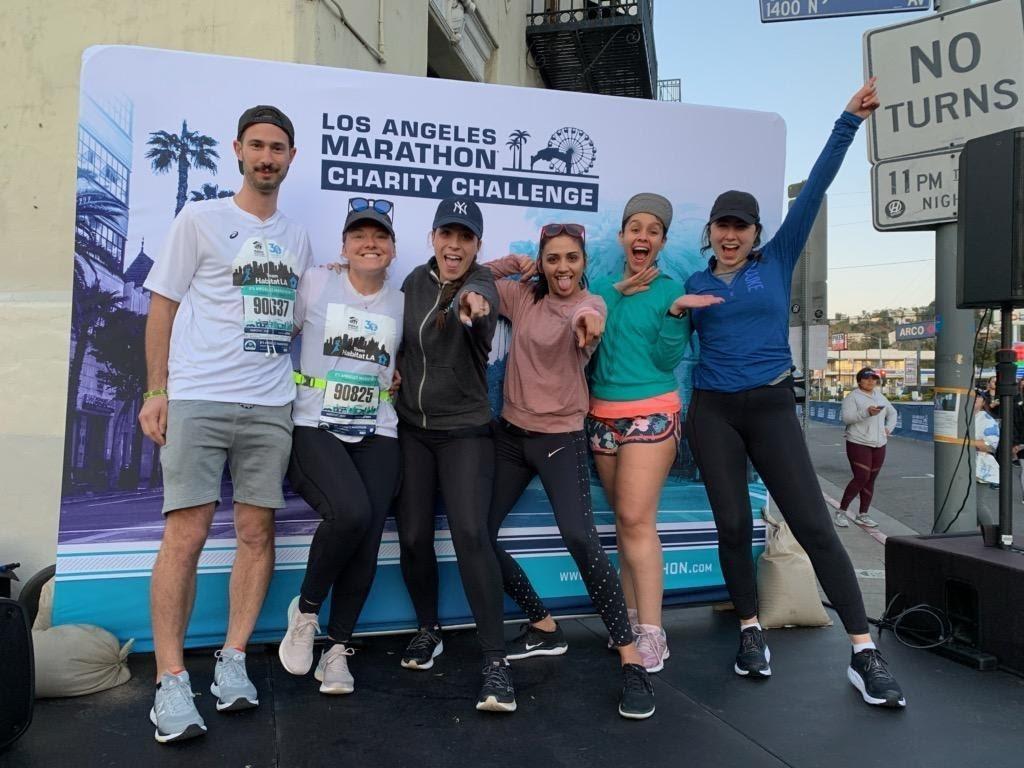 La marathon team