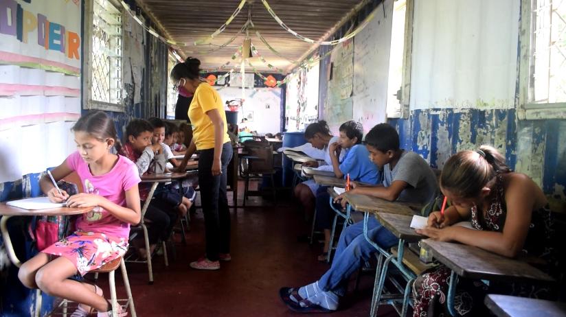 Inside existing classroom