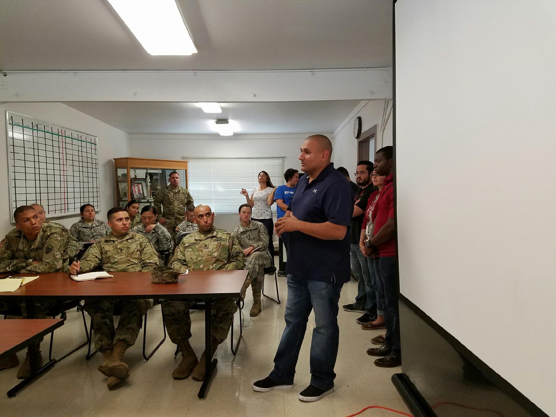 Veterans classroom