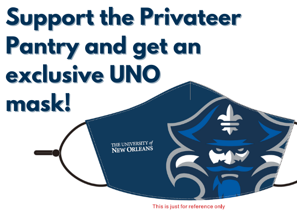 Support the privateer pantry and get an exclusive uno mask!